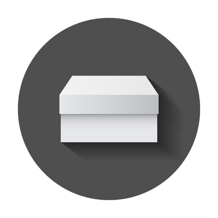 White cardboard package box.