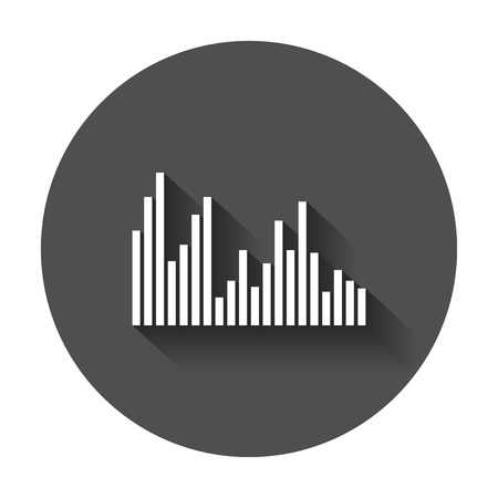 Sound waveforms icon. Иллюстрация