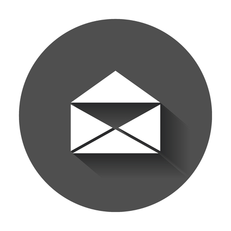 Mail envelop pictogram vector. Symbolen van e-mail. Stockfoto - 88444877