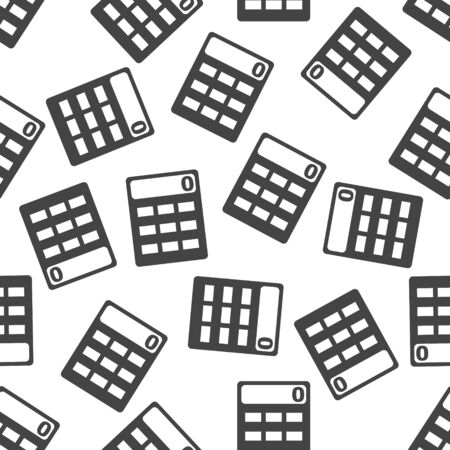 Calculator seamless pattern background icon. Flat vector illustration. Calculator sign symbol pattern. Illustration