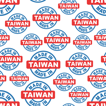 Made in Taiwan seamless pattern background icon. Flat vector illustration. Taiwan sign symbol pattern.