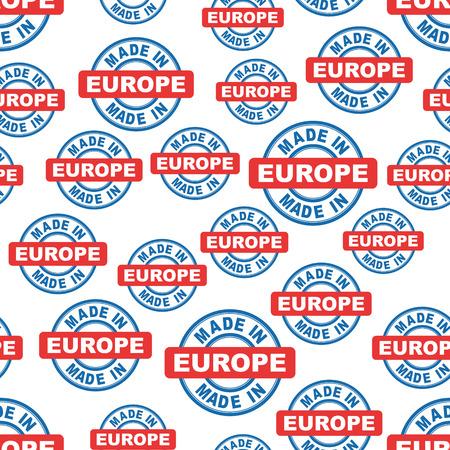 Made in Europe seamless pattern background icon. Flat vector illustration. Europe sign symbol pattern. Illusztráció