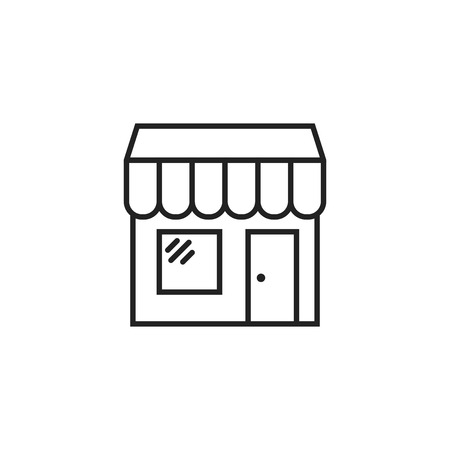 Store vector icon. Shop build illustration. Illustration