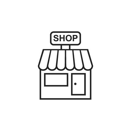 Tienda de icono de vector. Comprar ilustración de compilación. Foto de archivo - 81056803