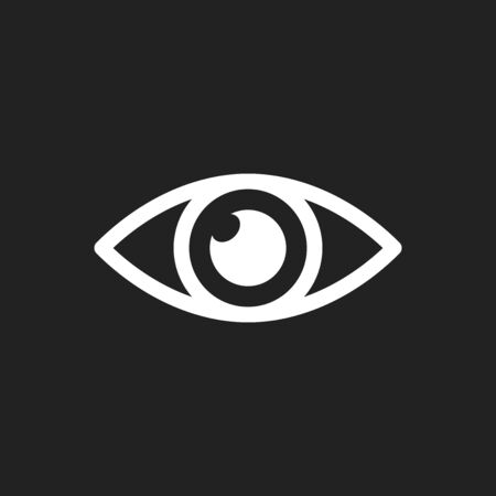 male symbol: Simple eye icon vector. Eyesight pictogram in flat style.