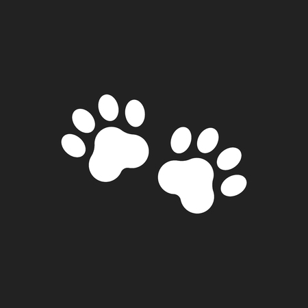 dog grooming: Paw print vector icon.