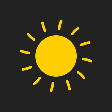 mobile website: Sun icon vector illustration. Sun with ray symbol.