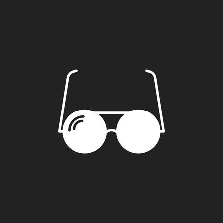 Sunglasses vector icon. Eyewear flat illustration. Illustration