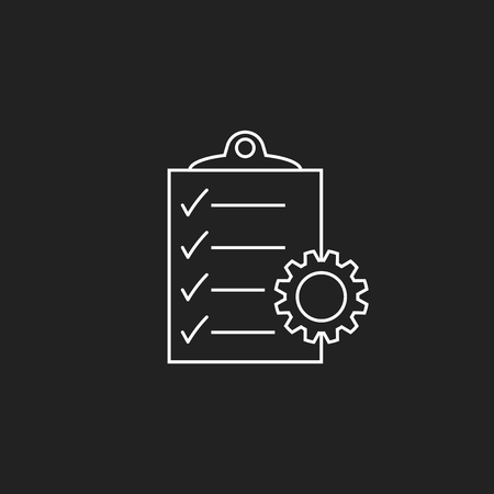 Document vector icon. Project management flat illustration. Иллюстрация