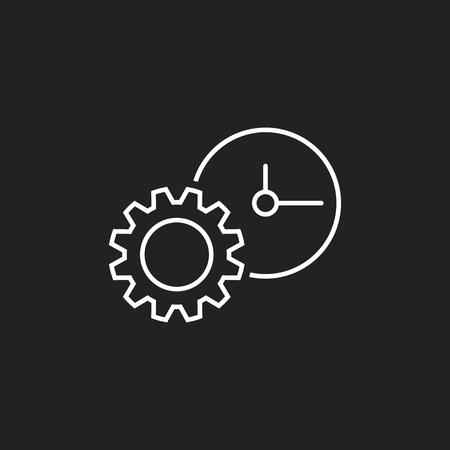 Dokument-Vektor-Symbol. Projektmanagement flache Abbildung. Standard-Bild - 81059110