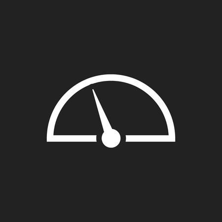 Dashboard vector icon. Level meter speed vector illustration.