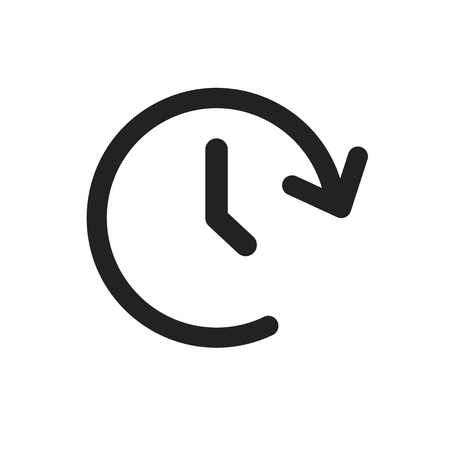 Clock tome vector icon. Timer 24 hours sign illustration. Vectores