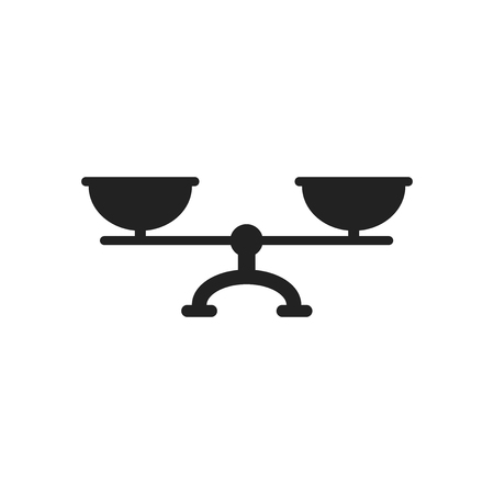 Scale weigher vector icon. Weigher, balance sign illustration. Vektorové ilustrace