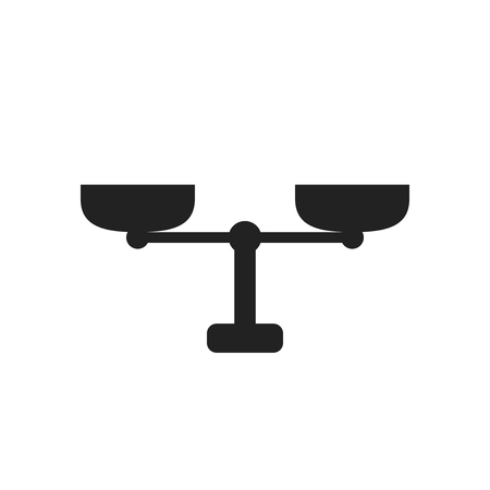 Scale weigher vector icon. Weigher, balance sign illustration.