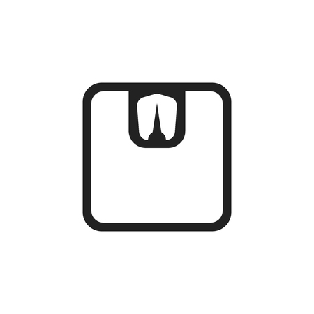 Bathroom scale weigher vector icon. Weigher, balance sign illustration. Stock Illustratie