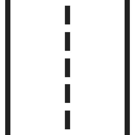 흰색 표시 벡터 일러스트와 함께 직선도. 고속도로 도로 아이콘입니다.