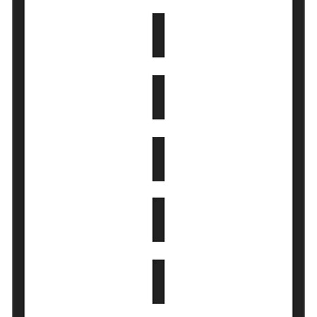 Straight road with white markings vector illustration. Highway road icon.