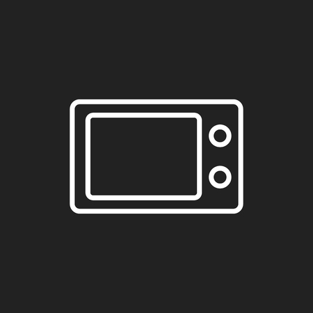 Microwave flat vector icon. Microwave oven symbol logo illustration.