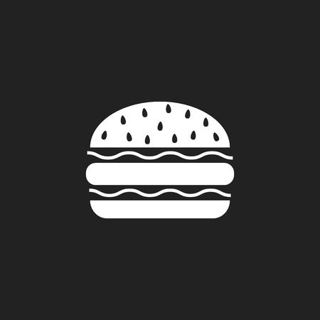 Burger fast food flat vector icon. Hamburger symbol logo illustration. Иллюстрация