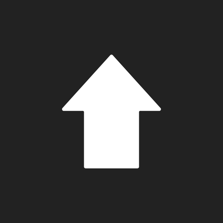 Arrow up vector icon. Forward arrow sign illustration.