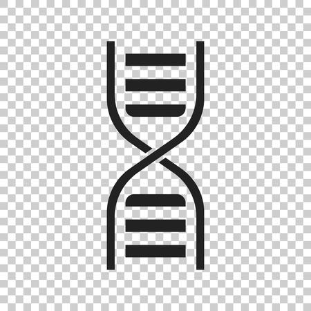 Dna vector icon. Medecine molecule flat illustration. Ilustração