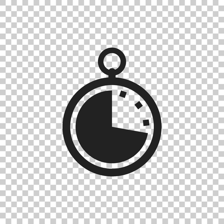Timer icon illustration. Flat vector clock pictogram.