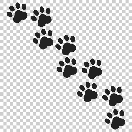 Paw print vector icon.