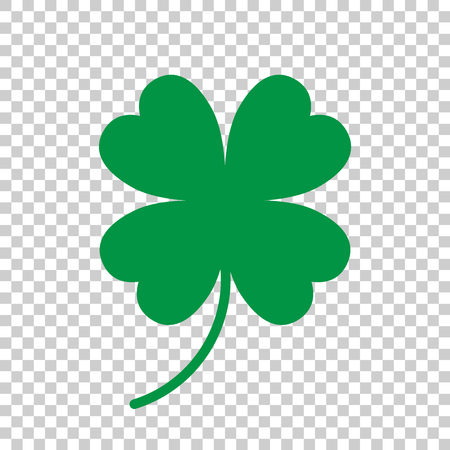 four objects: Four leaf clover vector icon. Clover silhouette simple icon illustration.