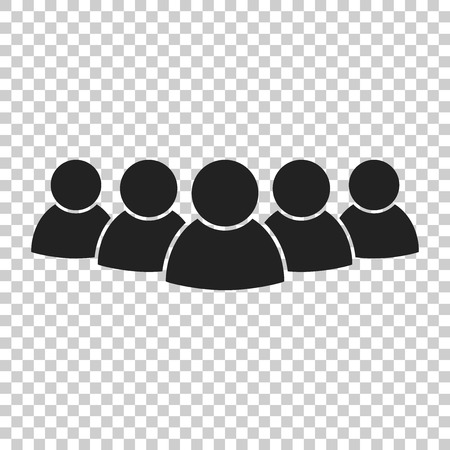 Group of people vector icon. Persons icon illustration.