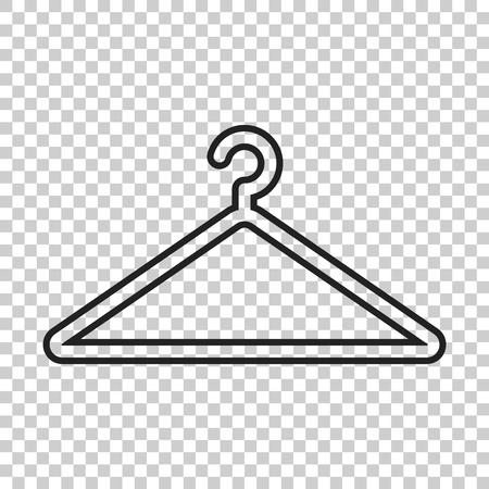 Hanger vector icon in line style. Wardrobe hanger flat illustration. Çizim