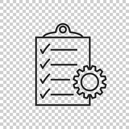 Document vector icoon. Project management platte illustratie.