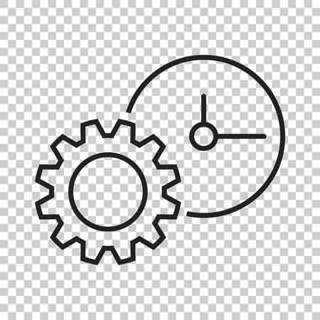 Document vector icon. Project management flat illustration. Illustration