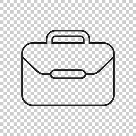 diplomat: Suitcase vector icon. Luggage illustration in line style.