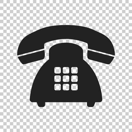 Phone vector icon. Old vintage telephone symbol illustration. Vettoriali