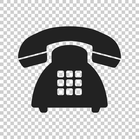 Phone vector icon. Old vintage telephone symbol illustration. Иллюстрация