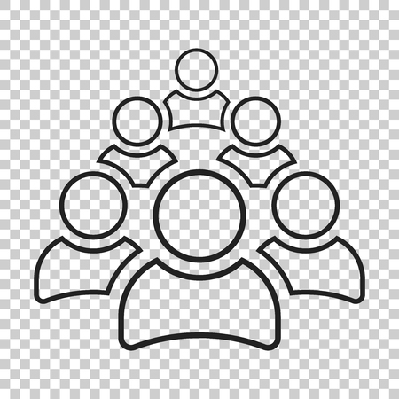 bussiness man: Group of people vector icon in line style. Persons icon illustration. Illustration