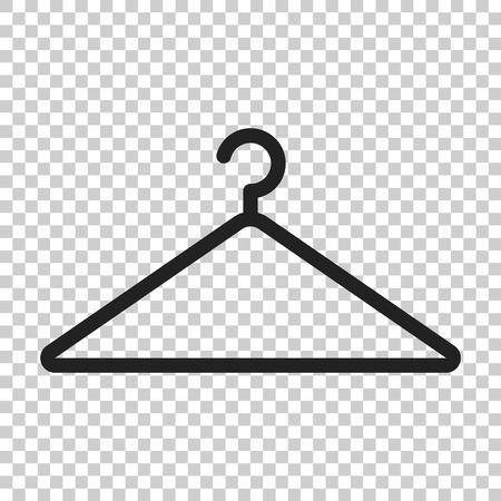 Hanger vector icon. Wardrobe hander flat illustration. Illustration