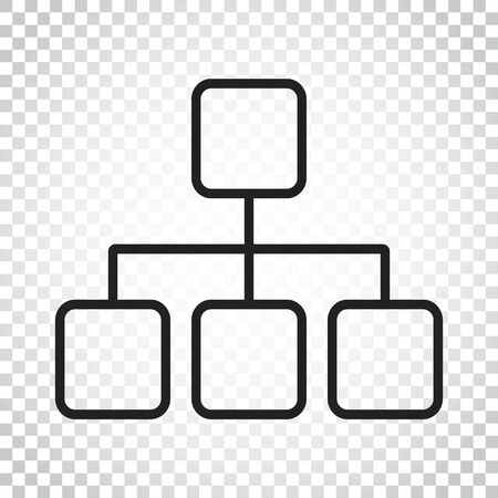 Structure simple flat icon. Vector illustration on white background. Simple business concept pictogram. Çizim