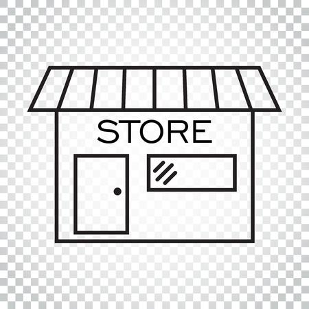 Winkel pictogram vectorillustratie in vlakke stijl. Symbool winkelen. Eenvoudig bedrijfsconcept pictogram.