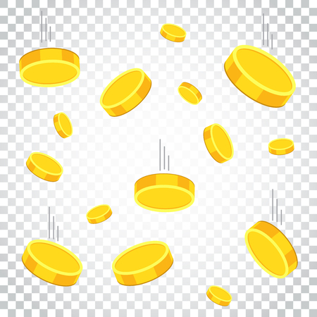 Money icon on isolated background. Coins vector illustration in flat style. Icons for design, website. Simple business concept pictogram. Illustration