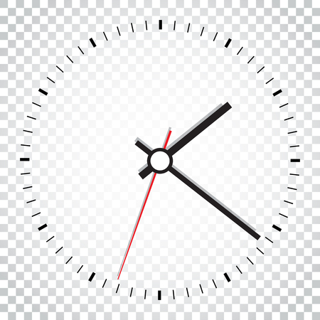 Clock icon vector illustration. Office clock on isolated background. Simple business concept pictogram.
