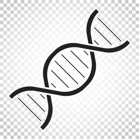 Dna vector icoon. Medecine molecule platte illustratie. Eenvoudig bedrijfsconcept pictogram. Stock Illustratie