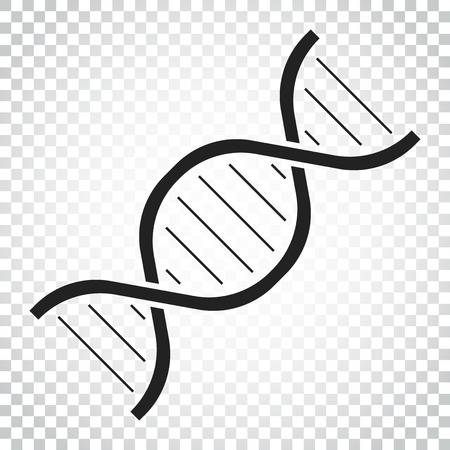 Dna vector icon. Medecine molecule flat illustration. Simple business concept pictogram.