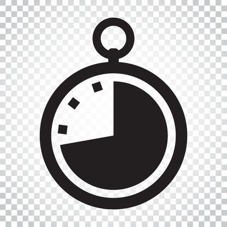 Timer icon illustration. Flat vector clock pictogram. Simple business concept pictogram.