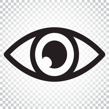 Simple eye icon vector. Eyesight pictogram in flat style. Simple business concept pictogram. Ilustracja
