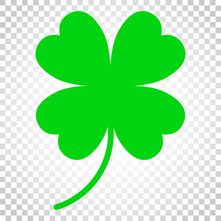 Four leaf clover vector icon. Clover silhouette simple icon illustration. Simple business concept pictogram on isolated background. Illustration