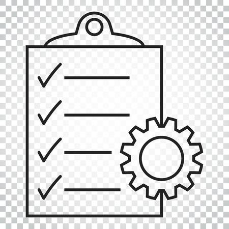 Document vector icoon. Project management platte illustratie. Eenvoudig bedrijfsconcept pictogram op geïsoleerde achtergrond.