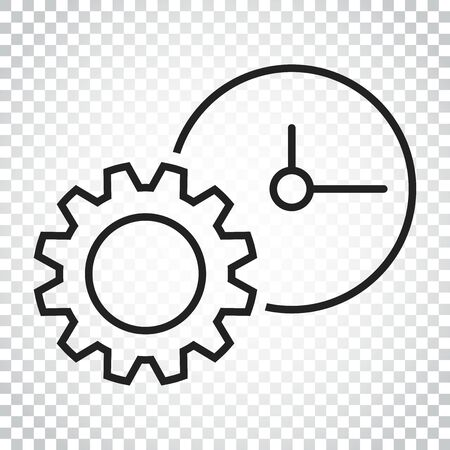 Document vector icon. Project management flat illustration. Simple business concept pictogram on isolated background. Vettoriali