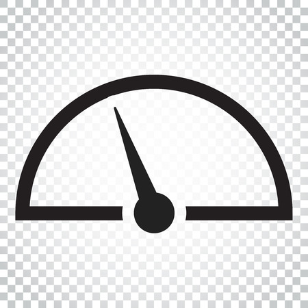 Dashboard vector icon. Level meter speed vector illustration. Simple business concept pictogram on isolated background.