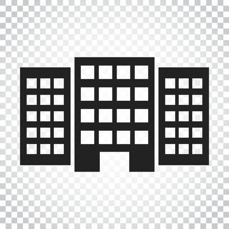 Building icon. Business vector illustration. Simple business concept pictogram on isolated background.
